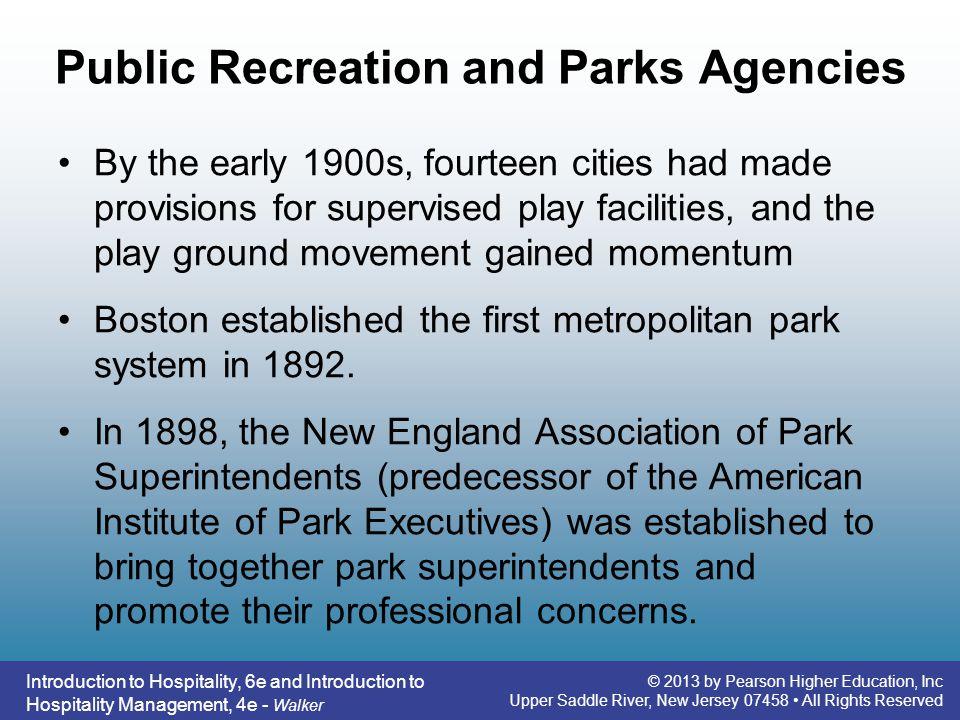 Public Recreation and Parks Agencies
