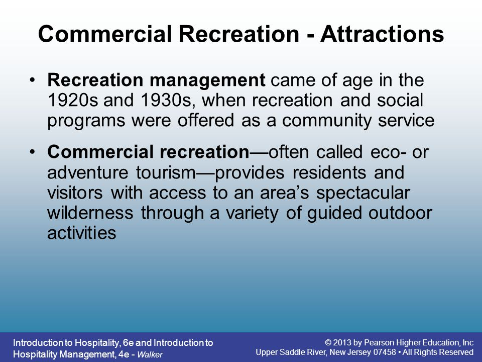 Commercial Recreation - Attractions