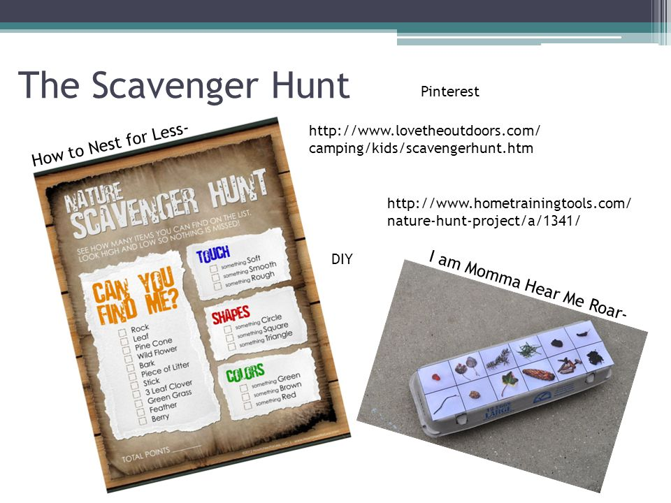 The Scavenger Hunt How to Nest for Less- I am Momma Hear Me Roar-