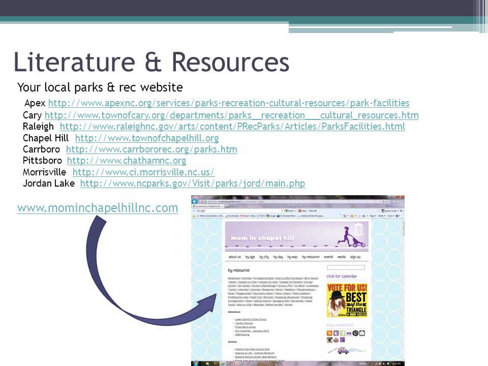 Literature & Resources