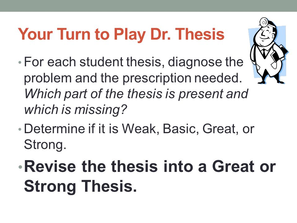 Your Turn to Play Dr. Thesis