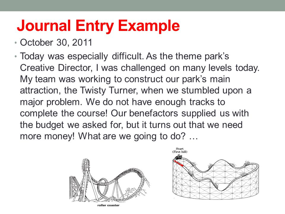 Journal Entry Example October 30, 2011