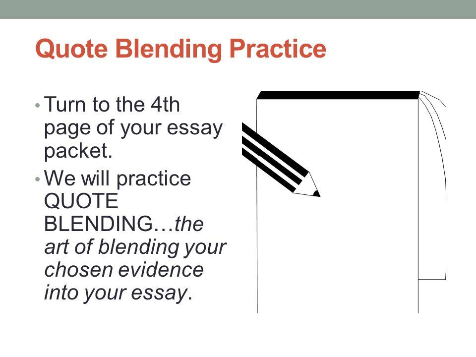 Quote Blending Practice