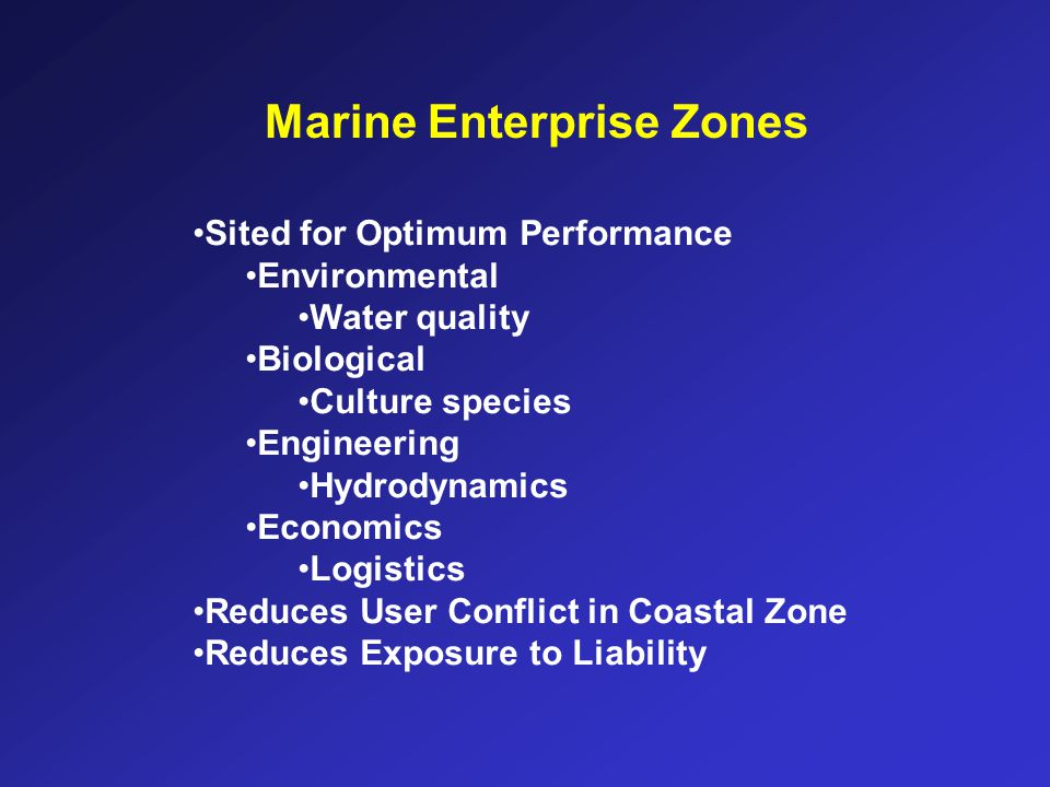 Marine Enterprise Zones