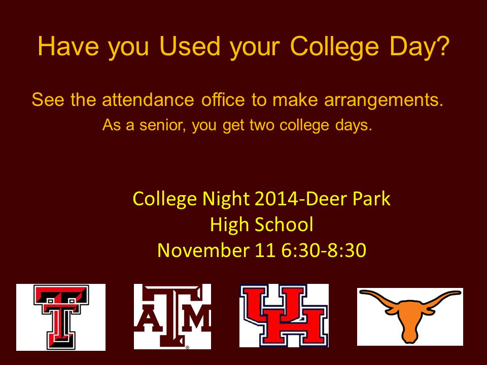 Have you Used your College Day