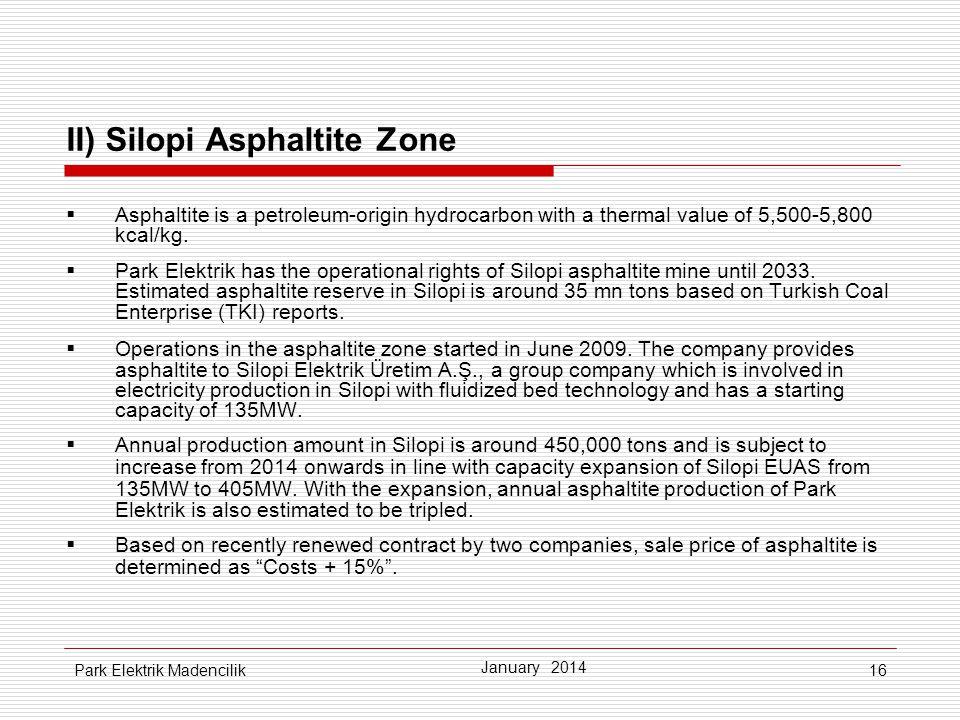 II) Silopi Asphaltite Zone