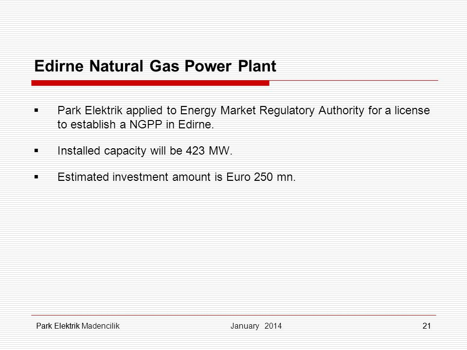 Edirne Natural Gas Power Plant