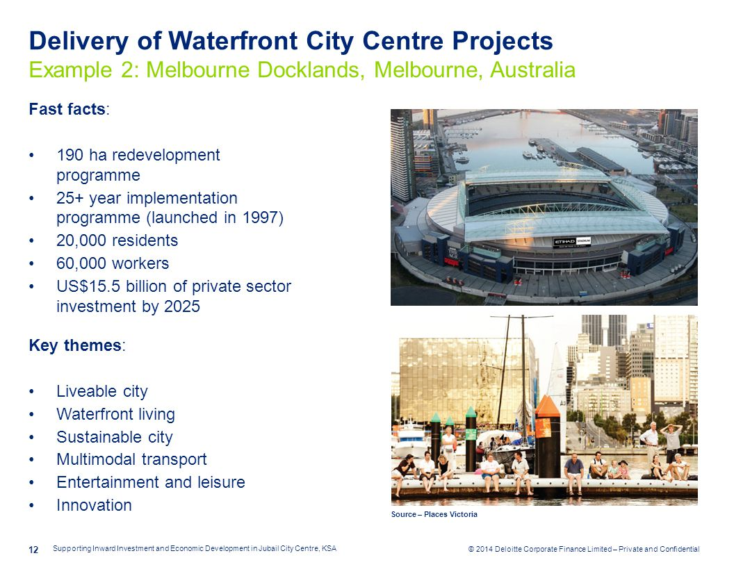Delivery of Waterfront City Centre Projects Example 2: Melbourne Docklands, Melbourne, Australia