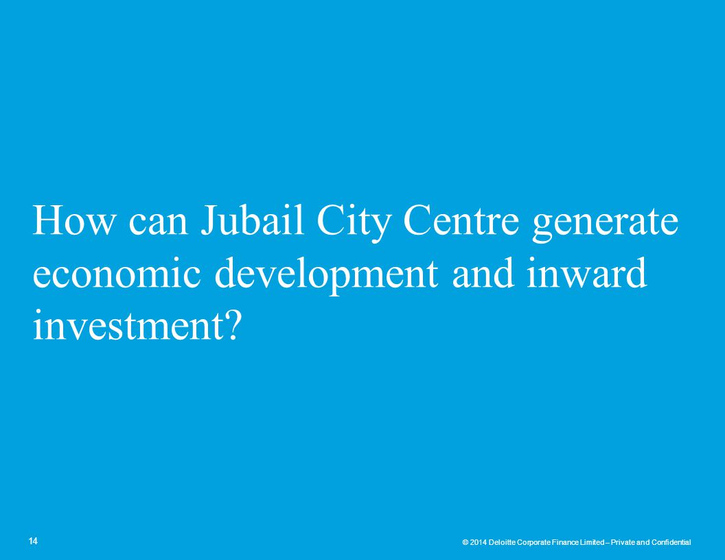 How can Jubail City Centre generate economic development and inward investment
