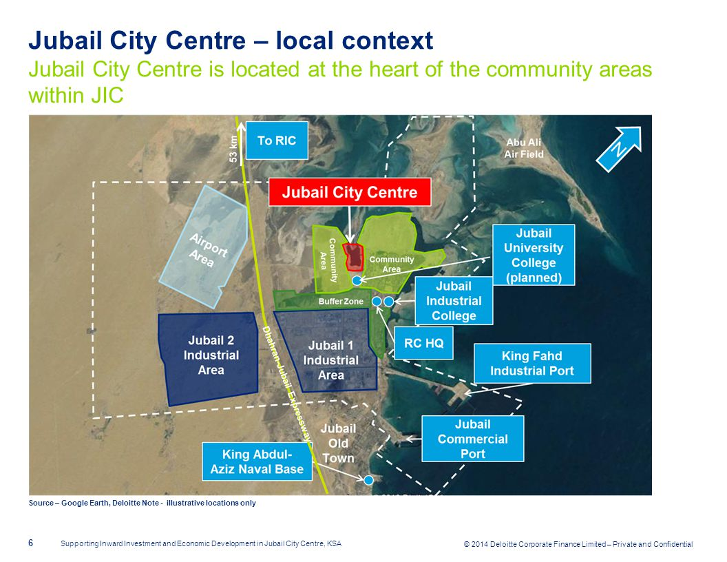 Jubail City Centre – local context Jubail City Centre is located at the heart of the community areas within JIC