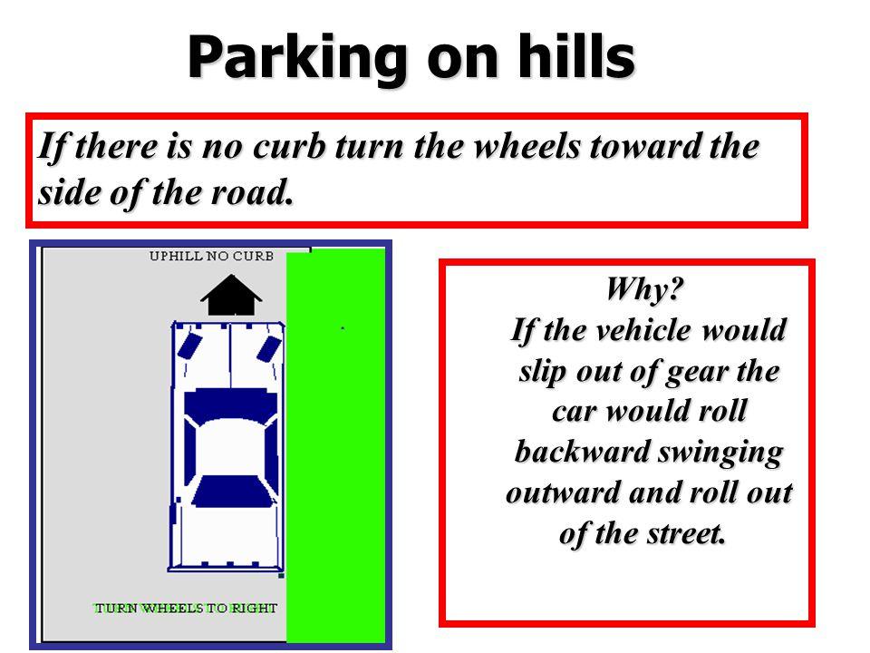 Parking on hills Parking on hills
