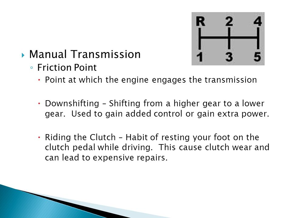 Manual Transmission Friction Point