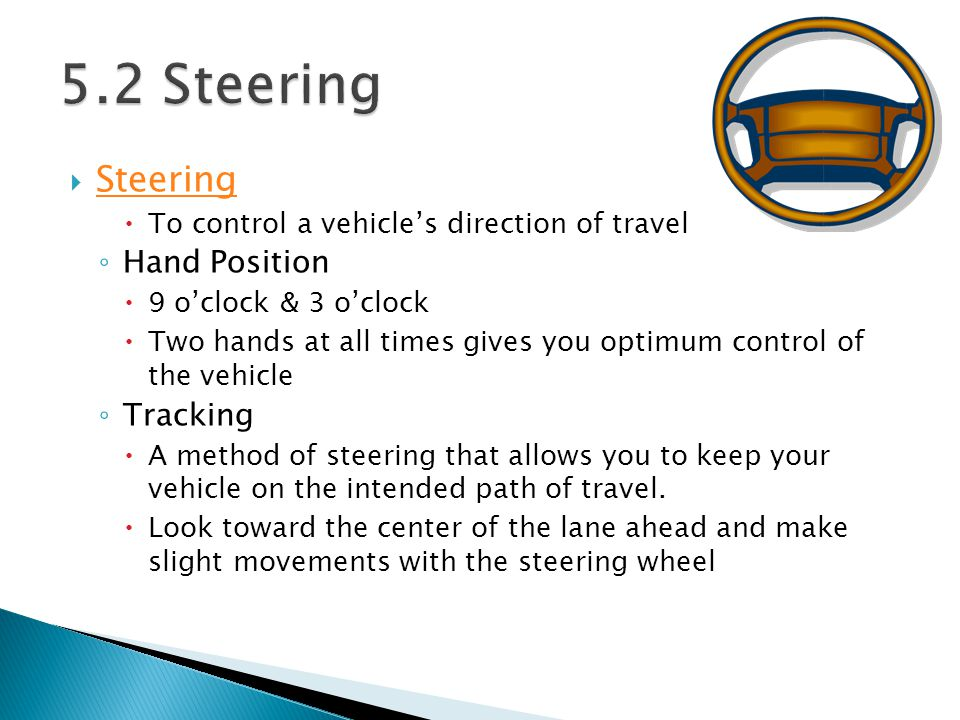 5.2 Steering Steering Hand Position Tracking