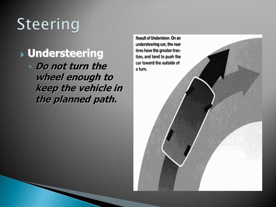 Steering Understeering