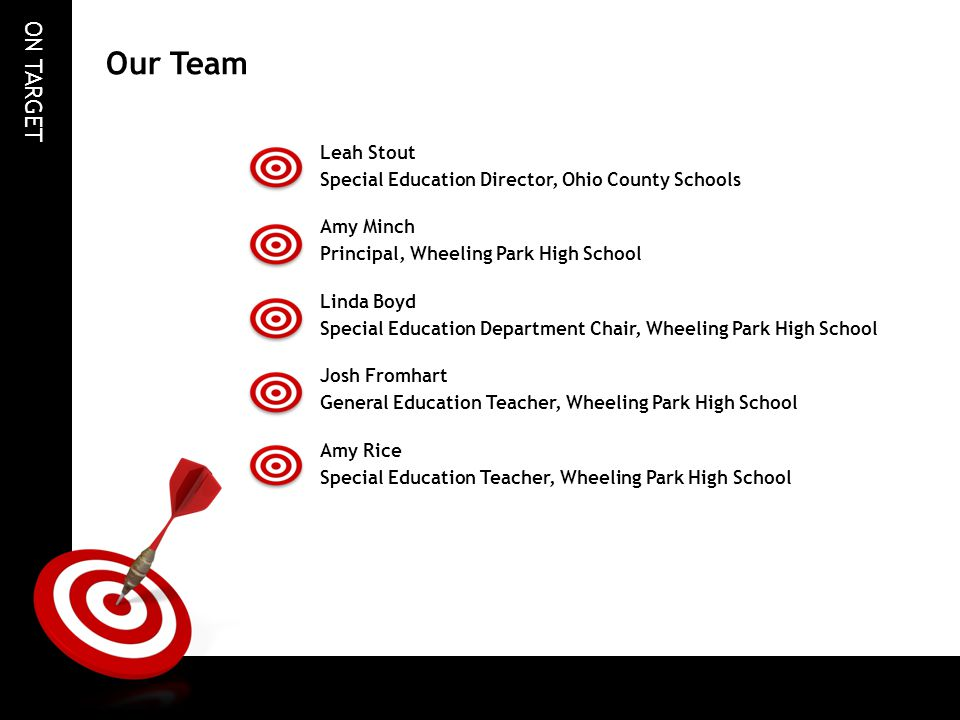 Our Team Leah Stout Special Education Director, Ohio County Schools