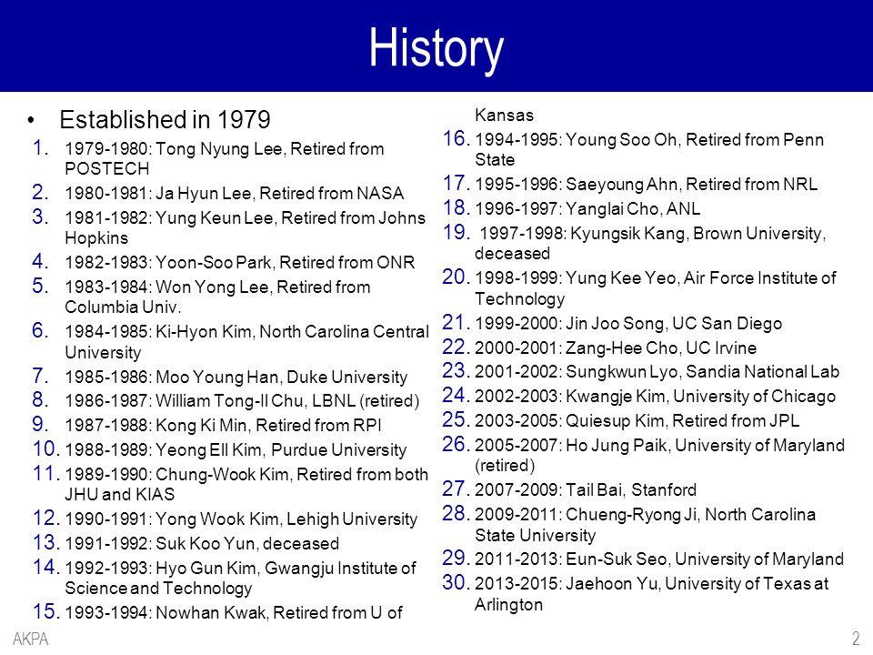 History Established in 1979