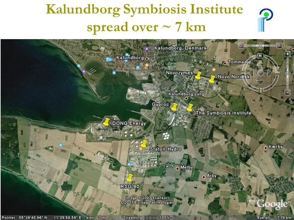 Kalundborg Symbiosis Institute spread over ~ 7 km