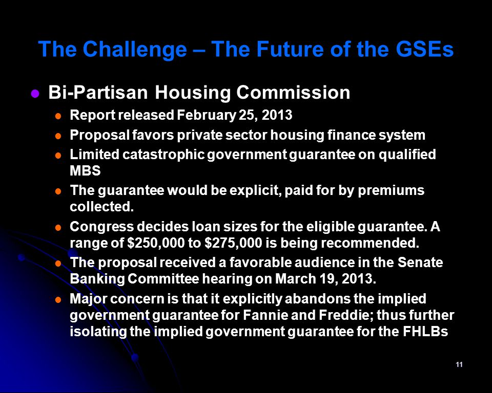 The Challenge – The Future of the GSEs