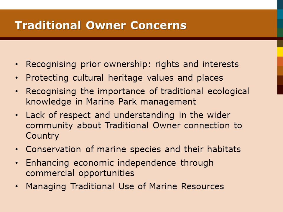 Traditional Owner Concerns