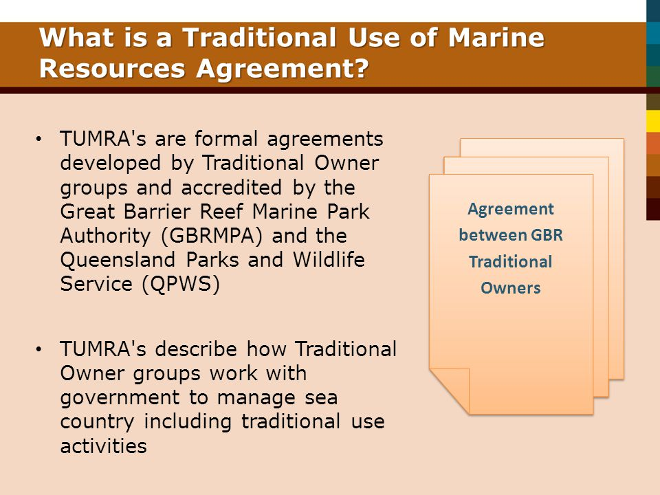 What is a Traditional Use of Marine Resources Agreement