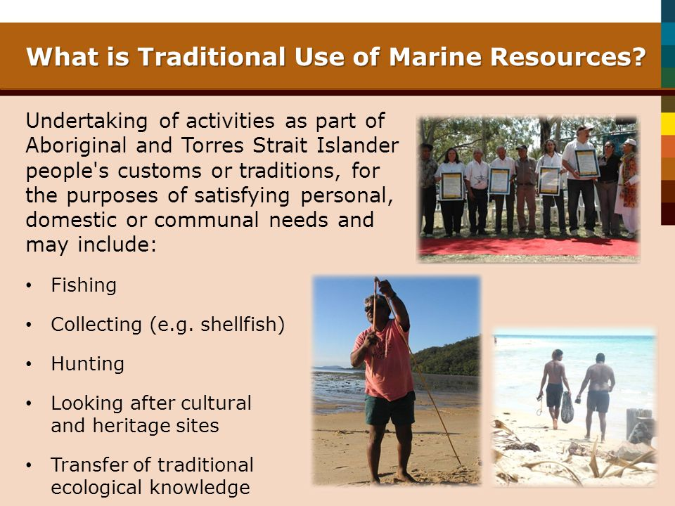 What is Traditional Use of Marine Resources