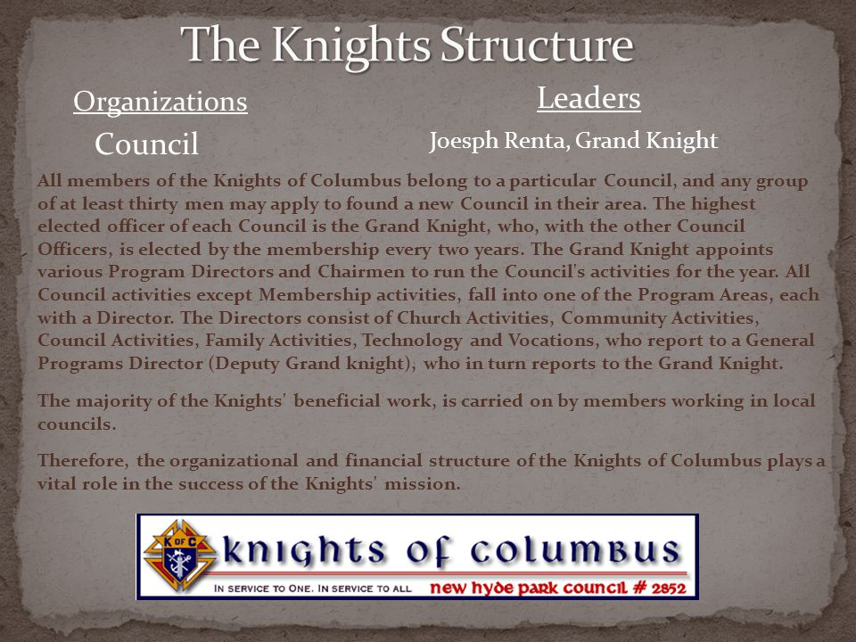 The Knights Structure Leaders Council Organizations