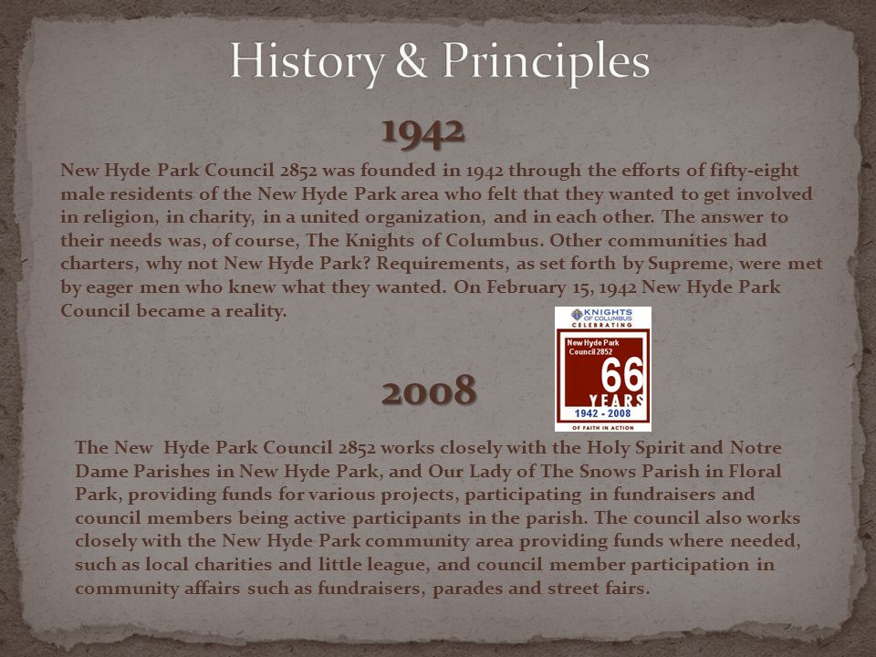 History & Principles 1942.