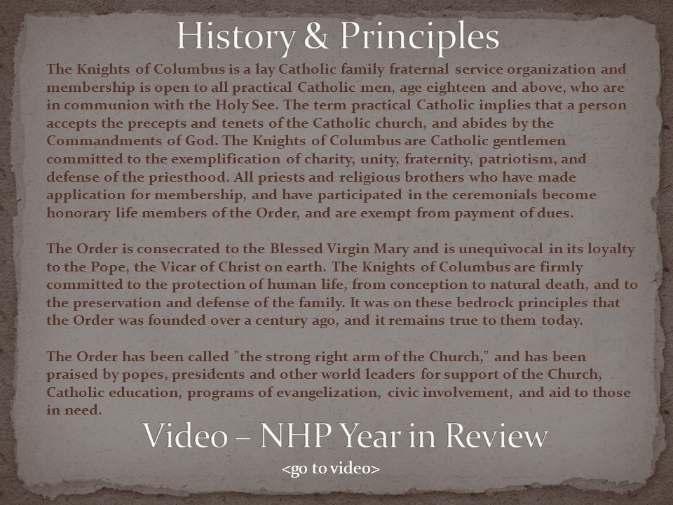 Video – NHP Year in Review