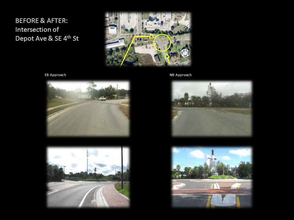 BEFORE & AFTER: Intersection of Depot Ave & SE 4th St EB Approach
