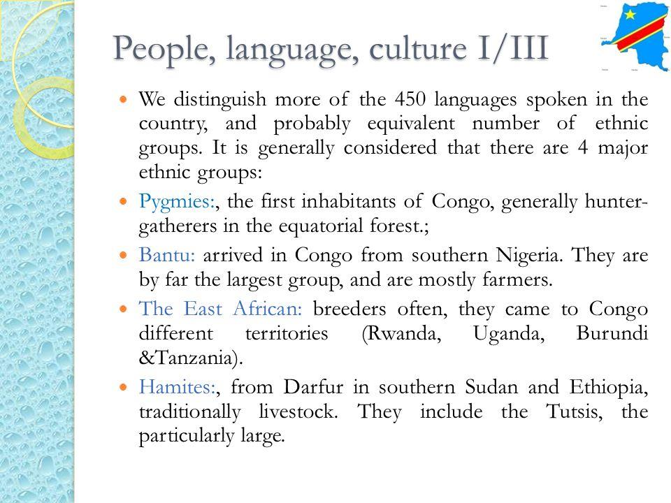 People, language, culture I/III