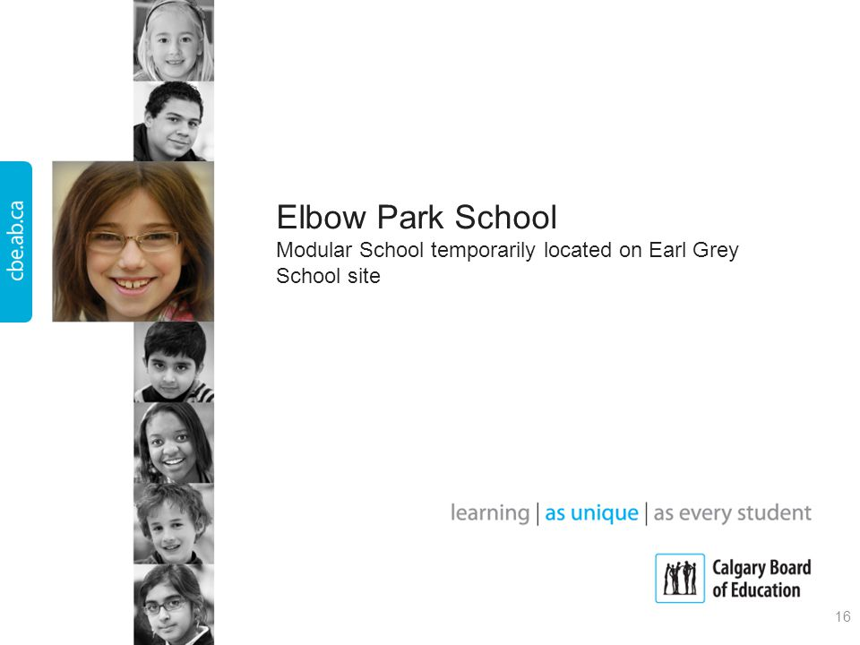 Elbow Park School Modular School temporarily located on Earl Grey School site