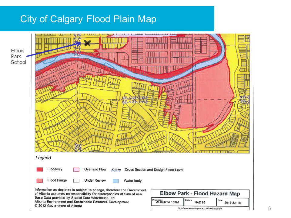 City of Calgary Flood Plain Map