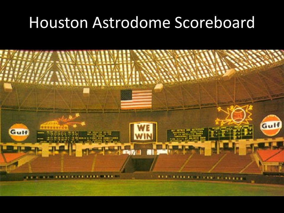 Houston Astrodome Scoreboard