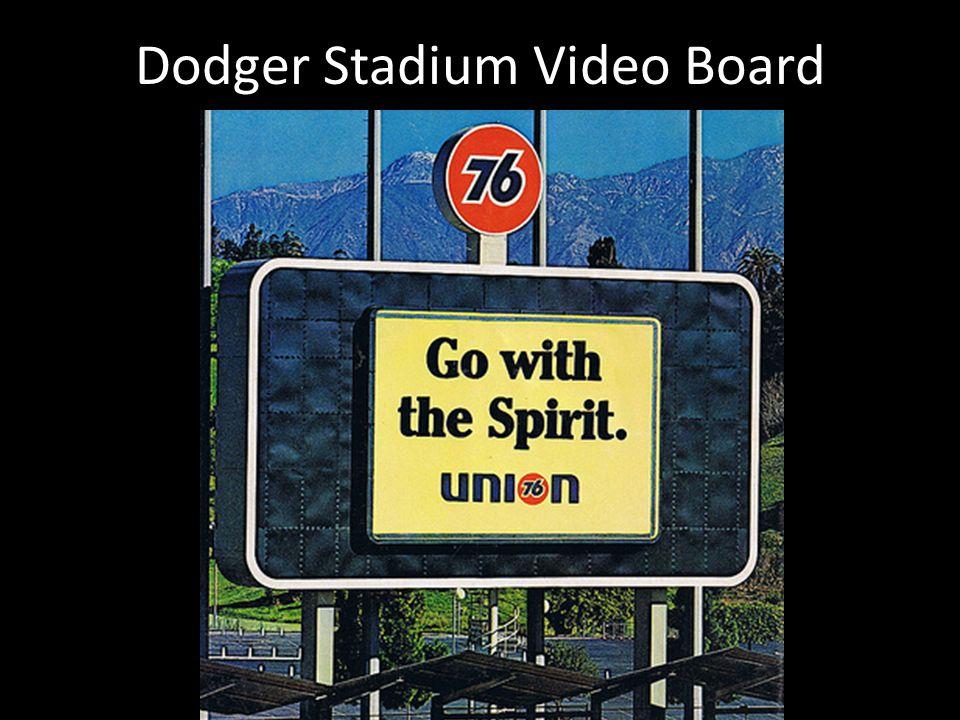 Dodger Stadium Video Board