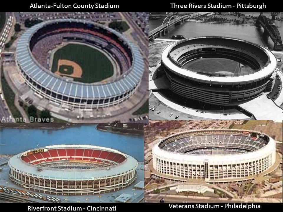 Atlanta-Fulton County Stadium Three Rivers Stadium - Pittsburgh