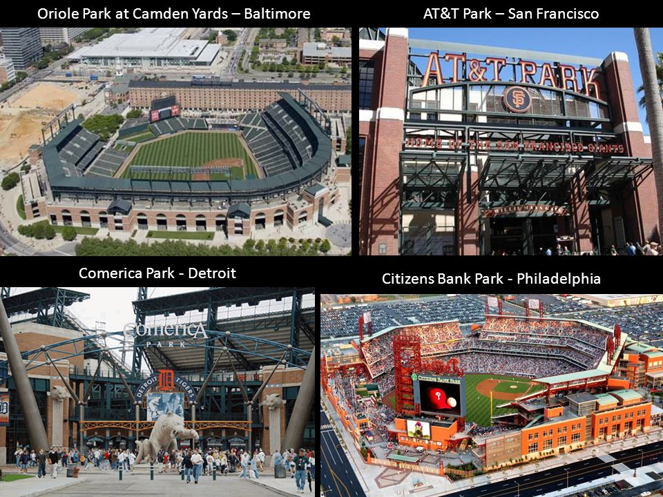 Oriole Park at Camden Yards – Baltimore AT&T Park – San Francisco