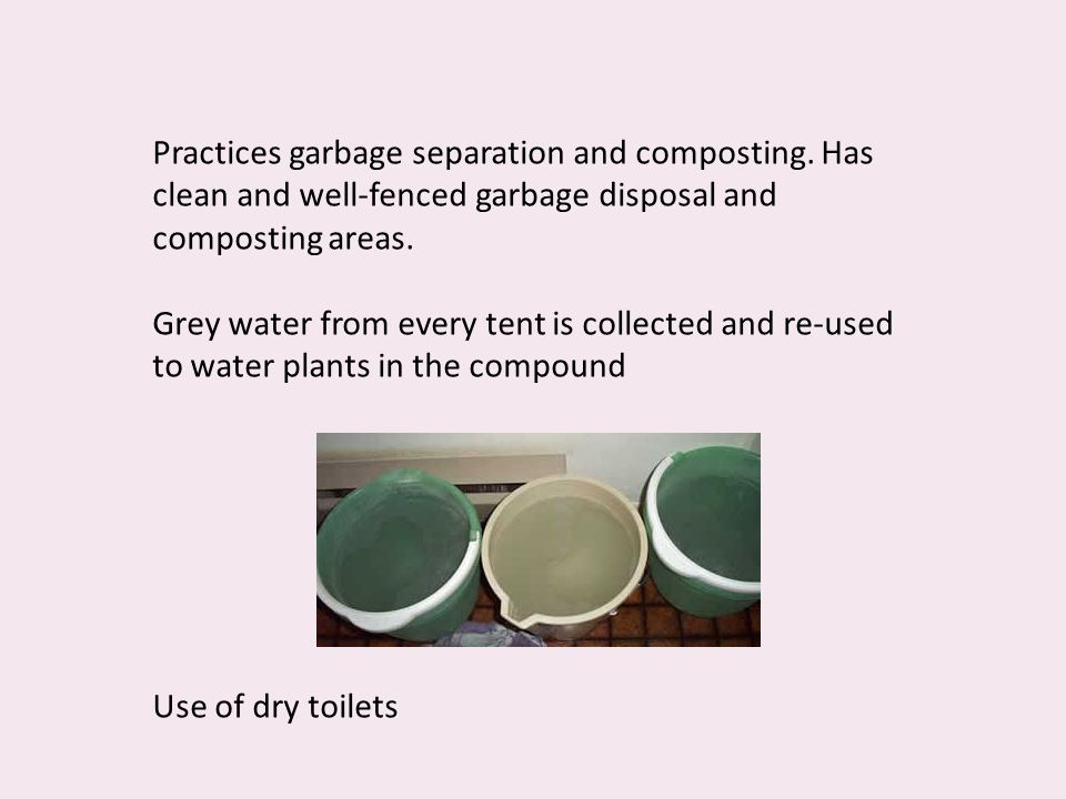 Practices garbage separation and composting