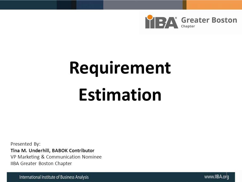 Requirement Estimation
