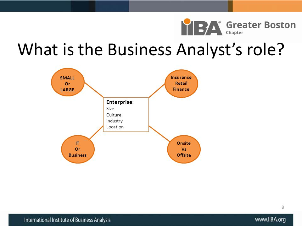 What is the Business Analyst's role