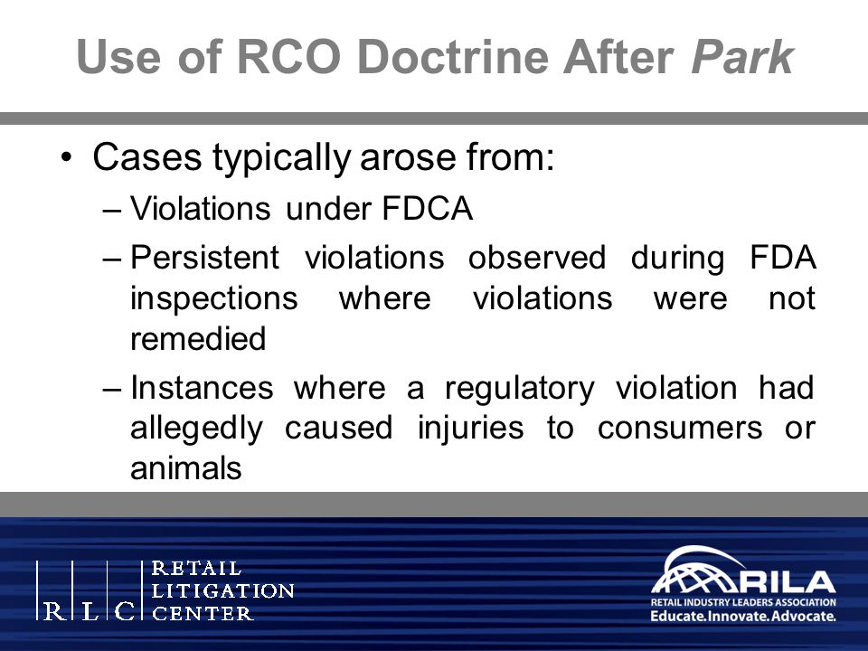 Use of RCO Doctrine After Park