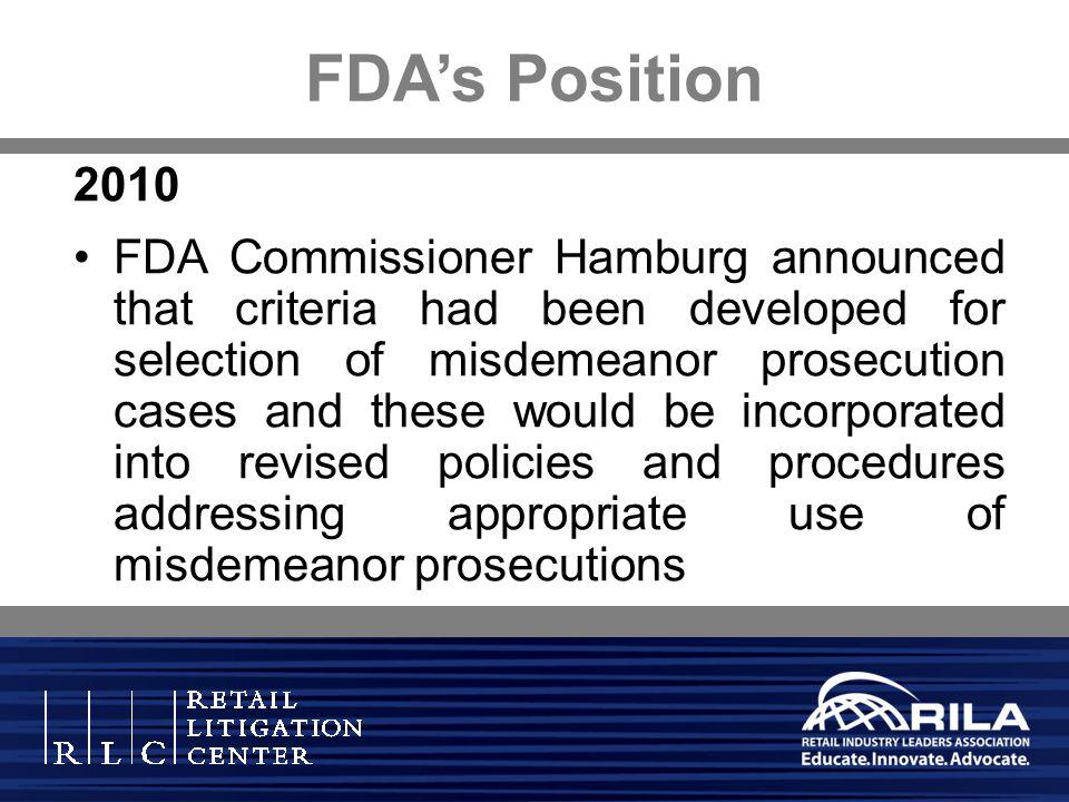 FDA's Position 2010.