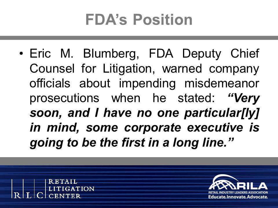 FDA's Position
