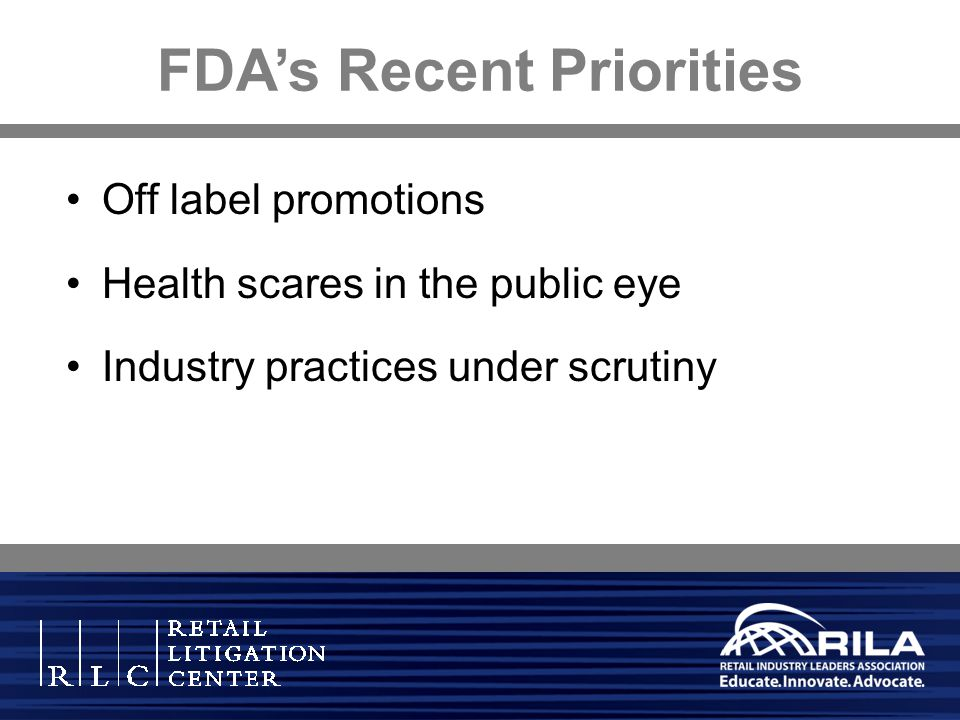 FDA's Recent Priorities