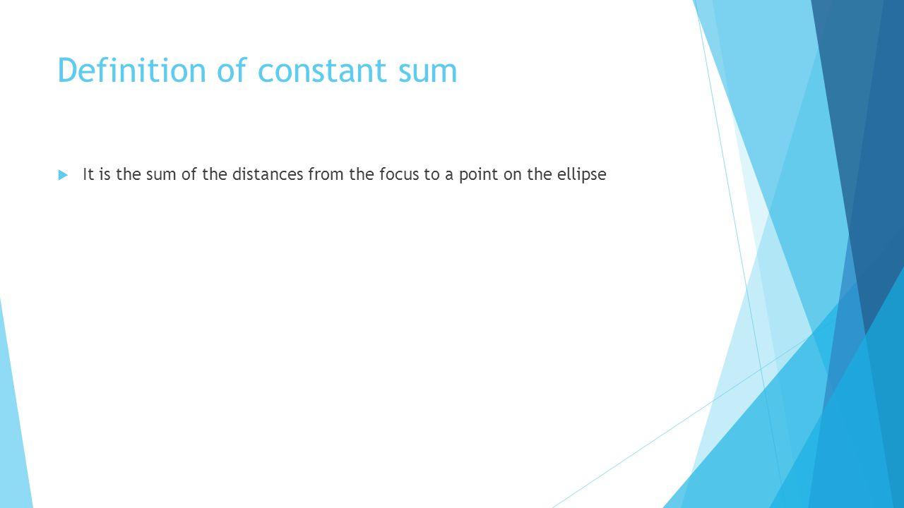 Definition of constant sum