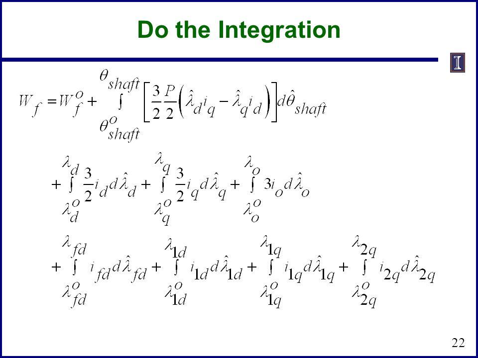 Do the Integration