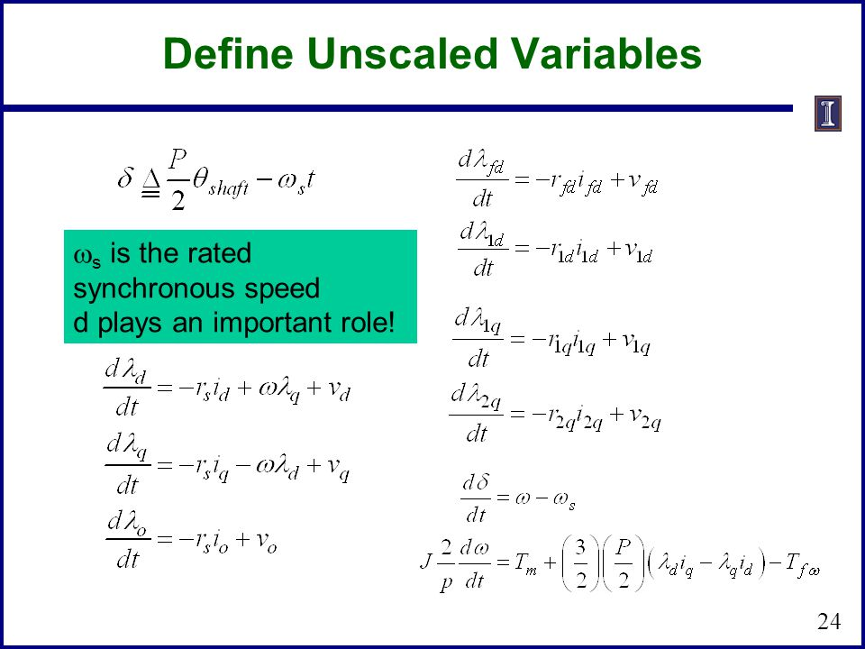 Define Unscaled Variables