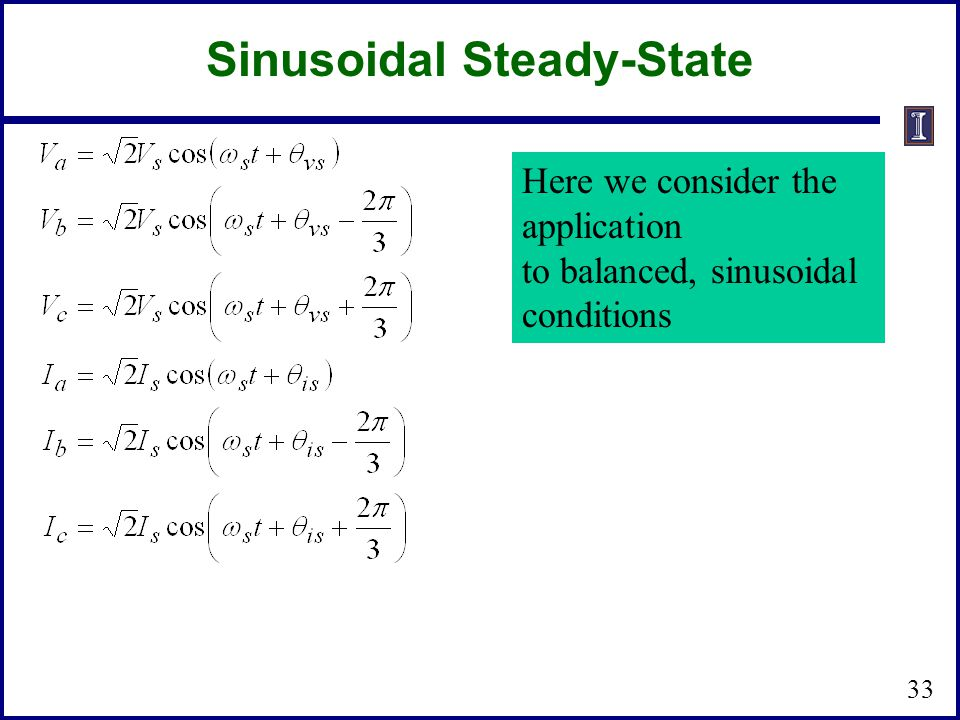 Sinusoidal Steady-State