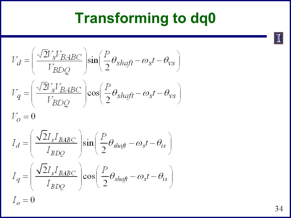 Transforming to dq0