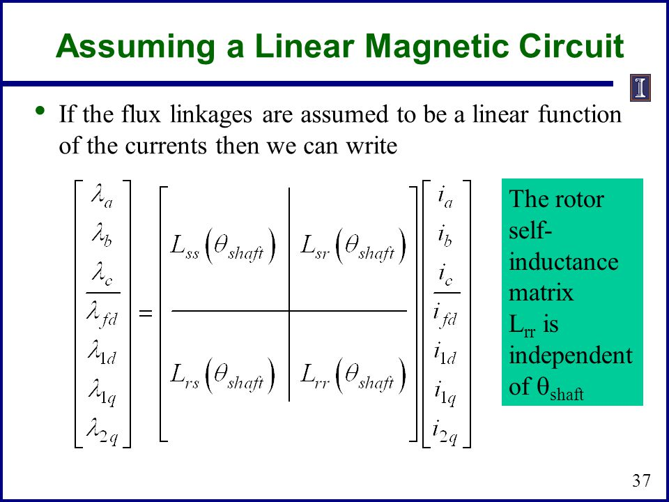Assuming a Linear Magnetic Circuit