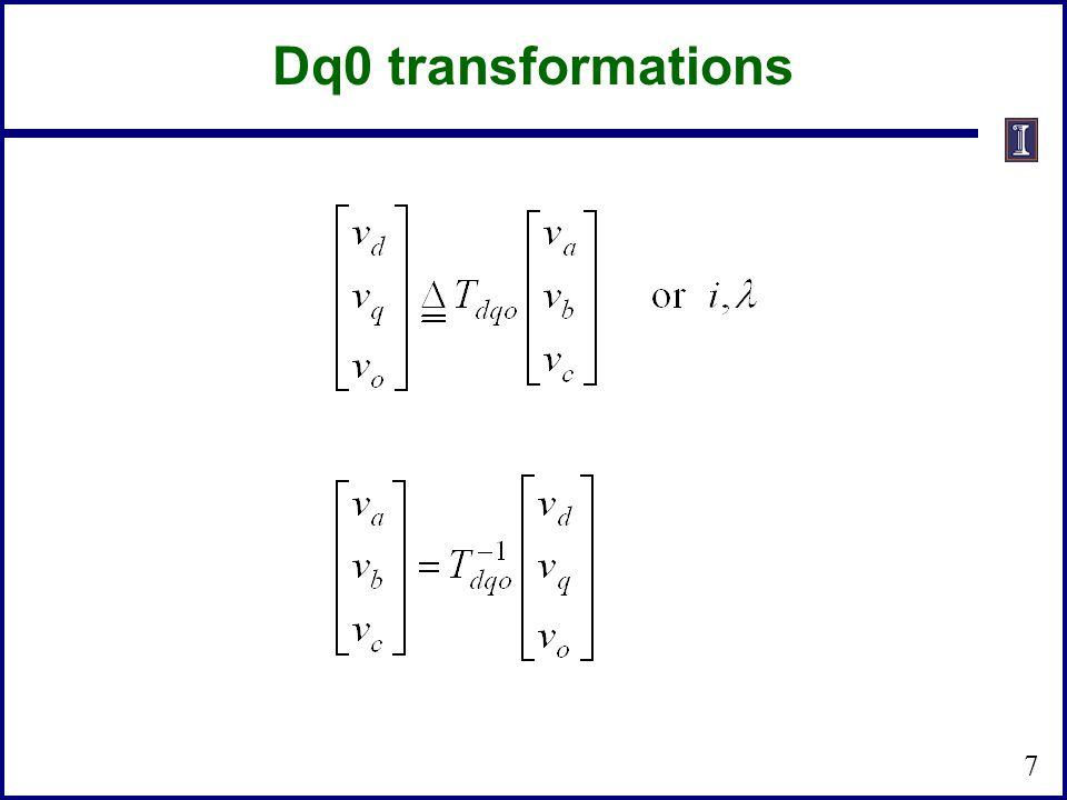 Dq0 transformations